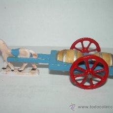 Juguetes antiguos y Juegos de colección: ANTIGUO JUGUETE DE MADERA....RUEDAS DE PLOMO...GOULA. Lote 36407024