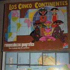 Juguetes antiguos y Juegos de colección: ROMPECABEZAS LOS 5 CONTINENTES. Lote 36414250