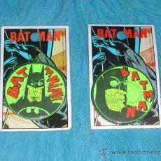 Juguetes antiguos y Juegos de colección: - LOTE DE 2 PIN / CHAPA DIFERENTES DE BATMAN - ORIGINALES 1989 DC COMICS - COLOR NEON. Lote 36711868