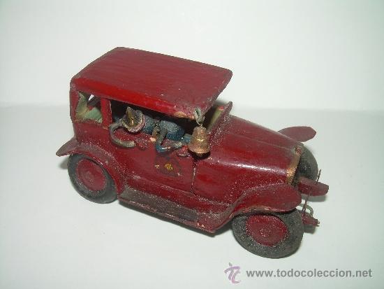 Antiguo y bonito juguete de madera coche d comprar - Juguetes antiguos de madera ...