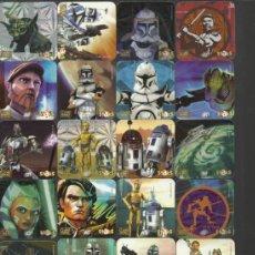Juguetes antiguos y Juegos de colección: LOTE 25 STACKS IMANES DE CLONE WARS STAR WARS GUERRA DE LAS GALAXIAS. Lote 37734835