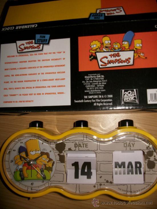 Calendario Fox.The Simpsons Reloj Calendario 20 Th Century Fox Nuevo