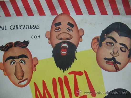 Juguetes antiguos y Juegos de colección: MIL CARICATURAS CON MULTICARAS - PATENTE 43.074 - Foto 2 - 38838819