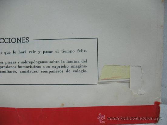 Juguetes antiguos y Juegos de colección: MIL CARICATURAS CON MULTICARAS - PATENTE 43.074 - Foto 8 - 38838819