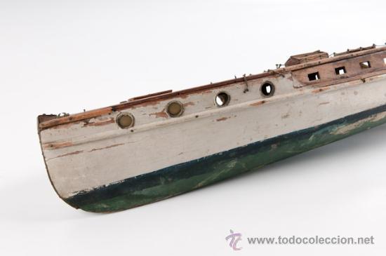 Barcaza en madera comprar en todocoleccion 14907663 - Juguetes antiguos de madera ...