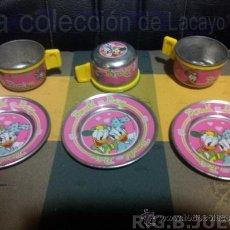 Juguetes antiguos y Juegos de colección: ANTIGUO JUEGO CAFE METAL DISNEY 60-70. Lote 39227659