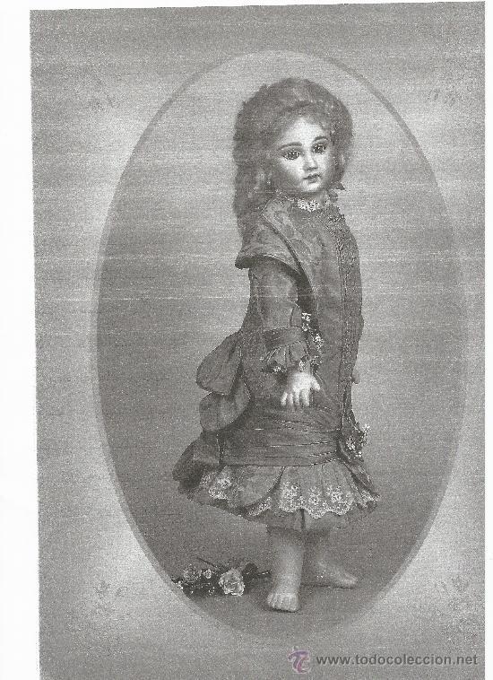 Juguetes antiguos y Juegos de colección: Reproducción Vestido Muñeca Francesa Antigua Jumeau de patron original de Ernestine Jumeau - Foto 3 - 39273356