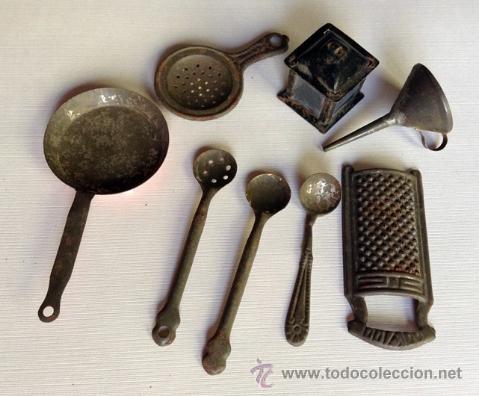 Antiguos utensilios de cocina en metal a os 30 comprar for Utensilios de cocina viejos