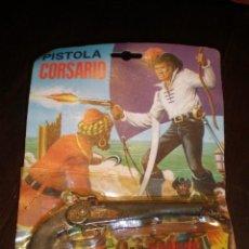 Juguetes antiguos y Juegos de colección: PISTOLA DE PISTONES MOD. CORSARIO AÑOS 60/70 REGALO FULMINANTES. Lote 162645334