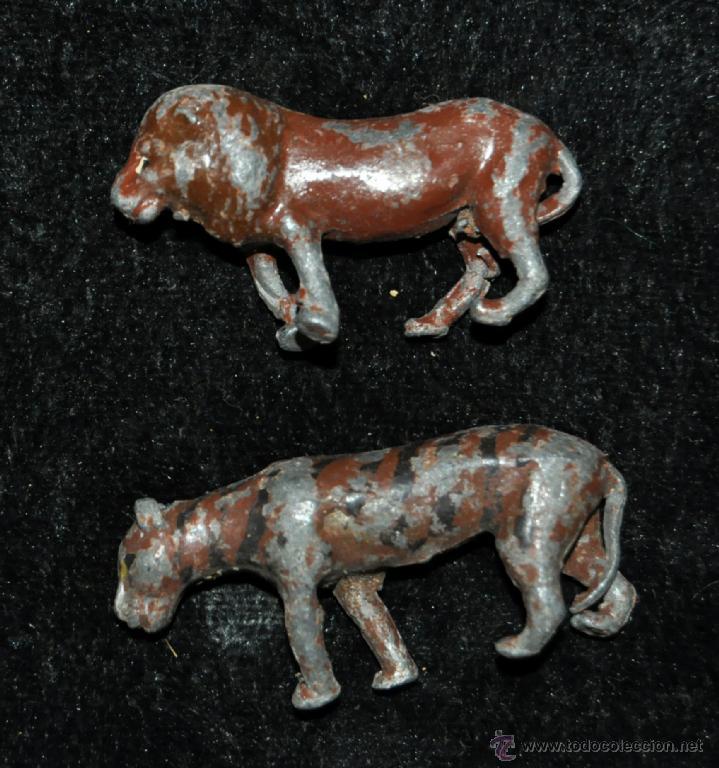 Juguetes antiguos y Juegos de colección: GRAN CONJUNTO ZOOLÓGICO CON VARIOS ANIMALES Y PIEZAS EN PLOMO. AÑOS 30-40. CASANELLAS - Foto 4 - 40054953