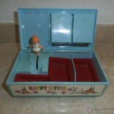 Juguetes antiguos y Juegos de colección: ANTIGUO JOYERO MUSICAL PLASTICO, MIDE 18 X 9,5 X 7 CM ALTO, 111-1. Lote 40300105
