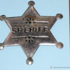 JUGUETE ESTRELLA DE METAL SHERIFF - JUGUETE PLACA METAL SHERIFF