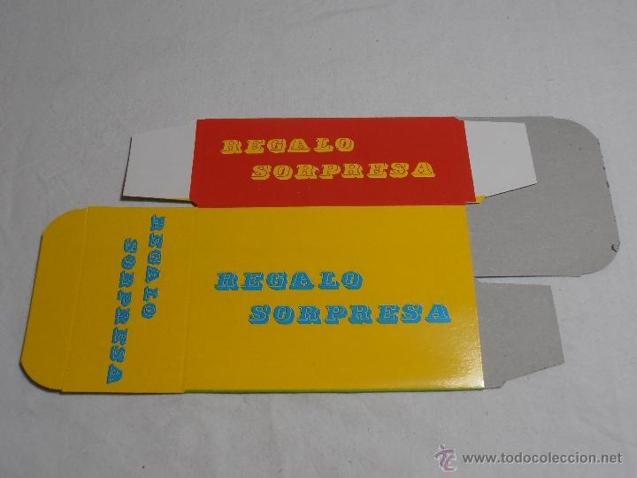 Juguetes antiguos y Juegos de colección: CAJA SOBRE SORPRESA VACIO BARATIJAS DE KIOSCO AÑOS 70 - Foto 5 - 40427856