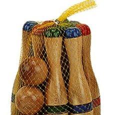Brinquedos antigos e Jogos de coleção: JUEGO DE BOLOS DE MADERA 24 CMS. EN RED. A PARTIR DE 6 AÑOS. Lote 49284979