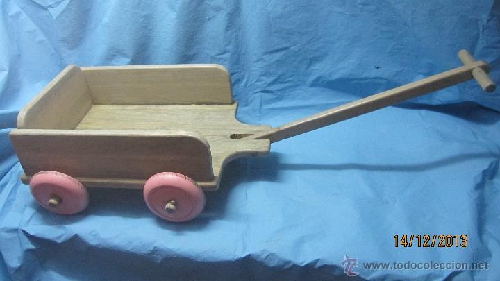 Antiguo Juguete Carro Con Ruedas De Madera Para Comprar En