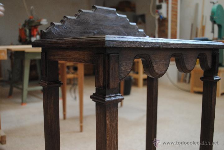 Juguetes antiguos y Juegos de colección: Mesita de madera pintada con estuco - Foto 7 - 40817949