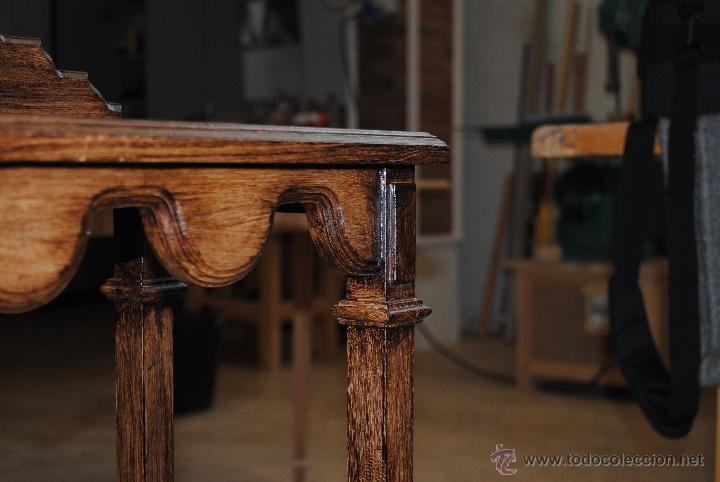 Juguetes antiguos y Juegos de colección: Mesita de madera pintada con estuco - Foto 10 - 40817949