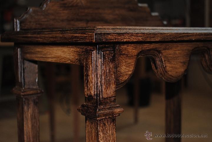 Juguetes antiguos y Juegos de colección: Mesita de madera pintada con estuco - Foto 11 - 40817949