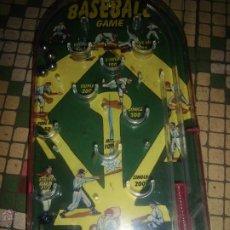 Juguetes antiguos y Juegos de colección: PIMBALL BASEBALL GAME BEISBOL JUGUETE MAQUINA DE BOLAS PINBALL HOJALATA. Lote 40850792