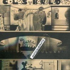 Juguetes antiguos y Juegos de colección: REVISTA AÑO 1937 MICKEY MOUSE Y LA GUERRA CIVIL COMIC BOMBARDEO DEL BARRIO DE ARGÜELLES EN MADRID. Lote 41661715