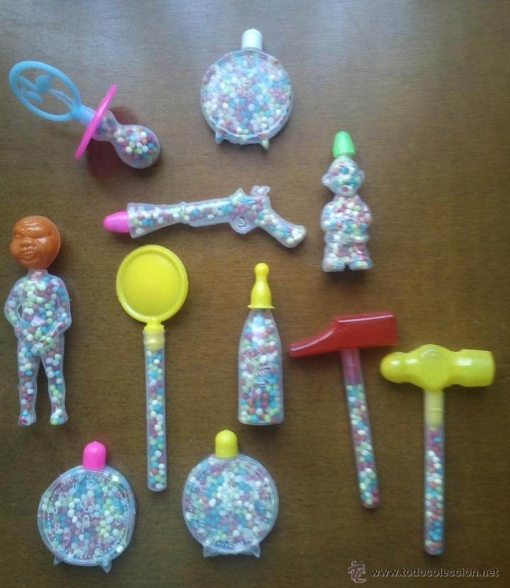 Lote figuras juguetes plastico golosinas chuche comprar for Juguetes de plastico