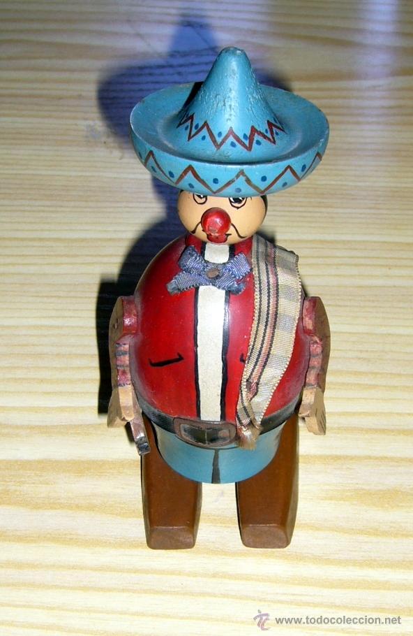 Antiguo Muneco Mexicano Madera Haya Anos 19 Comprar En