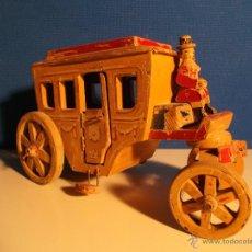 Juguetes antiguos y Juegos de colección: CARROZA DE MADERA.. Lote 41856944