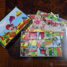 Juguetes antiguos y Juegos de colección: ROMPECABEZAS PUZZLE DE CUBOS DE JUGUETES CARNEADO AÑOS 70. Lote 42530873