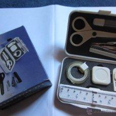 Juguetes antiguos y Juegos de colección: GRACIOSO BOX DE MATERIAL ESCOLAR EN MINIATURA-ESTUCHE EN BLANCO. Lote 42545911