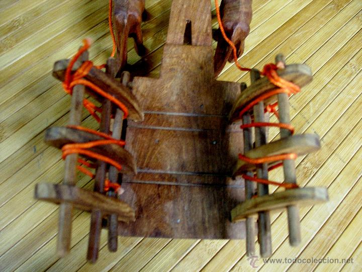Juguetes antiguos y Juegos de colección: ARTESANAL CARRETILLA Y BUEYES EN MADERA - Foto 5 - 42684344