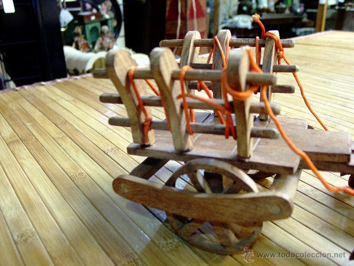 Juguetes antiguos y Juegos de colección: ARTESANAL CARRETILLA Y BUEYES EN MADERA - Foto 6 - 42684344