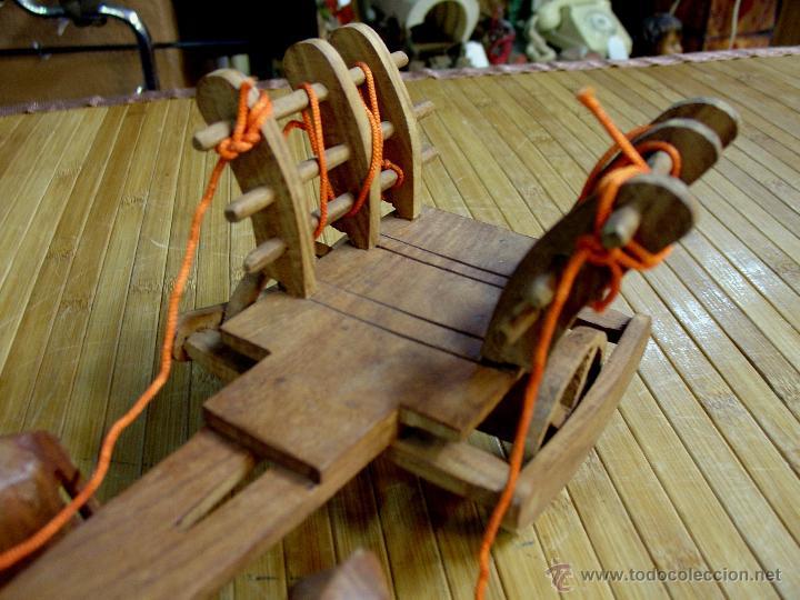 Juguetes antiguos y Juegos de colección: ARTESANAL CARRETILLA Y BUEYES EN MADERA - Foto 8 - 42684344