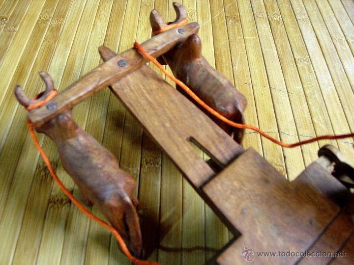 Juguetes antiguos y Juegos de colección: ARTESANAL CARRETILLA Y BUEYES EN MADERA - Foto 10 - 42684344