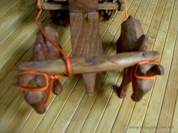 Juguetes antiguos y Juegos de colección: ARTESANAL CARRETILLA Y BUEYES EN MADERA - Foto 14 - 42684344