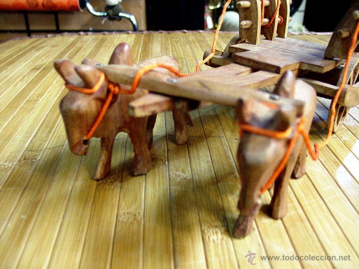 Juguetes antiguos y Juegos de colección: ARTESANAL CARRETILLA Y BUEYES EN MADERA - Foto 16 - 42684344