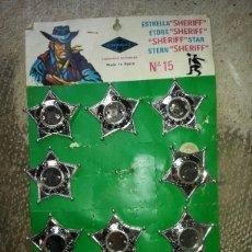 Juguetes antiguos y Juegos de colección: ESTRELLAS DE SHERIFF. ALREDEDOR DE 10. JUGUETES GONZALES FABRICADO EN ESPAÑA. . Lote 42842317