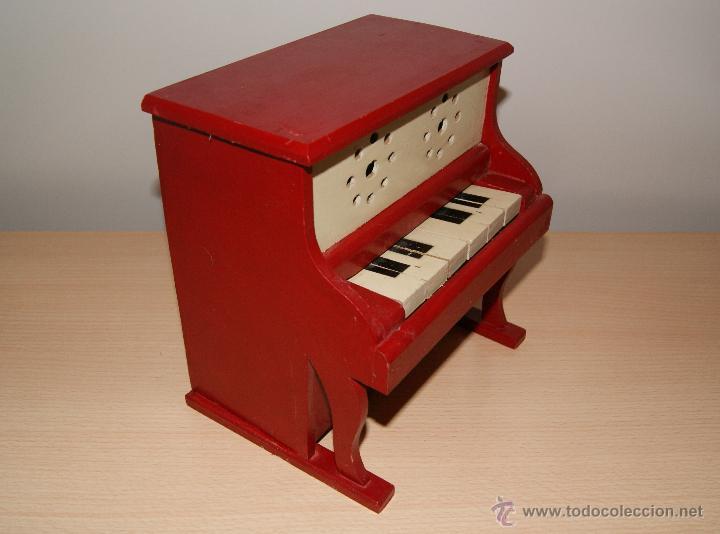 Juguetes antiguos y Juegos de colección: Antiguo PIANO de Juguete años 50 totalmente en madera. Funciona - Foto 5 - 42940838