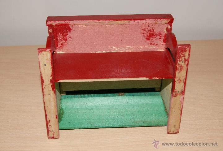 Juguetes antiguos y Juegos de colección: Antiguo PIANO de Juguete años 50 totalmente en madera. Funciona - Foto 6 - 42940838
