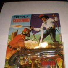 Juguetes antiguos y Juegos de colección: PISTOLA CORSARIO AÑOS 70 PISTONES - CASA FAR MEN. Lote 42963352