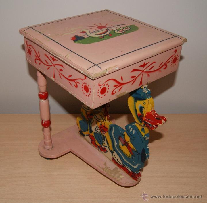 Antiguo caja joyero tocador costurero o simila comprar - Juguetes antiguos de madera ...