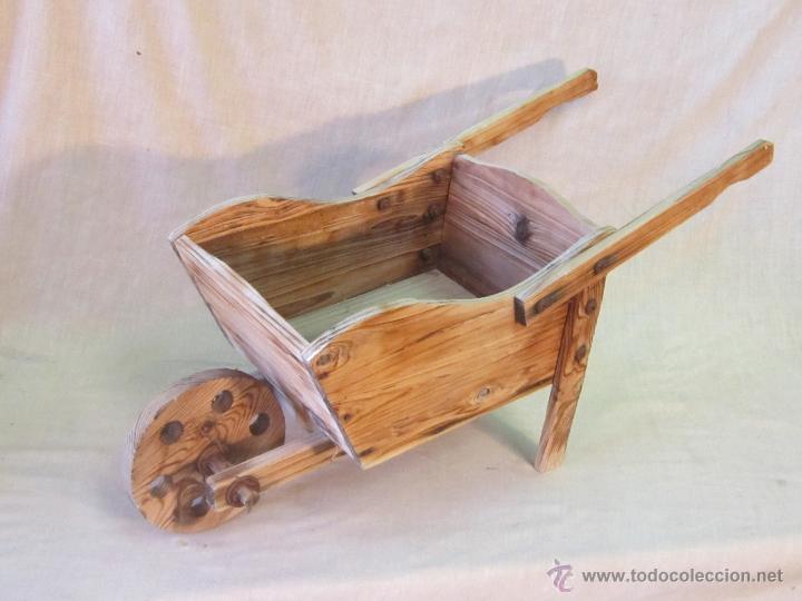 Carreton de juguete en madera comprar en todocoleccion - Juguetes antiguos de madera ...