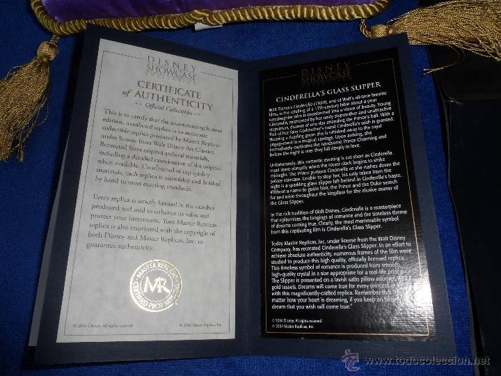 Juguetes antiguos y Juegos de colección: Master Replicas Cinderella Glass Slipper Limited Edition 2004 - Disney Showcase ¡Impecable! - Foto 7 - 45112259