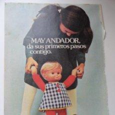 Juguetes antiguos y Juegos de colección: HOJA PUBLICIDAD MUÑECA MAY ANDADOR (MUÑECAS FAMOSA). Lote 45331653