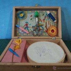 Juguetes antiguos y Juegos de colección: CAJA DE MADERA DE LABORES-MEDIDAS 20X13X5-NUEVO. Lote 45373294