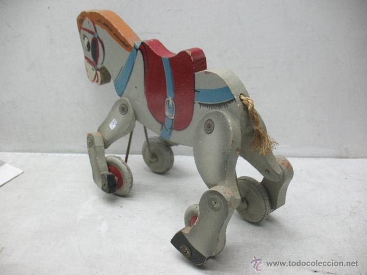 Juguetes antiguos y Juegos de colección: Denia - Antiguo burro de madera fabricado en España - Foto 2 - 45466972