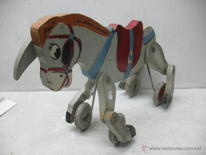 Juguetes antiguos y Juegos de colección: Denia - Antiguo burro de madera fabricado en España - Foto 3 - 45466972
