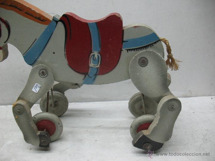 Juguetes antiguos y Juegos de colección: Denia - Antiguo burro de madera fabricado en España - Foto 4 - 45466972