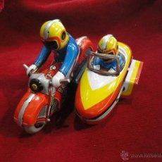 Juguetes antiguos y Juegos de colección: MOTORISTA CON SIDE CAR. Lote 45841423