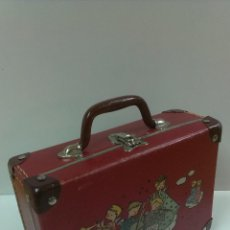 Juguetes antiguos y Juegos de colección: MUY ANTIGUA MALETA O CARTERA DE COLEGIO . CORO DE ANGELITOS. Lote 45960084