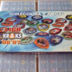 Juguetes antiguos y Juegos de colección: ALBUMS TAZOS PANINI LIGA DE FUTBOL KRAKS 06/07. Lote 46083060